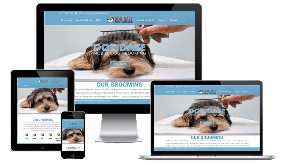 Dog daze mobile grooming awesome website guys dog daze mobile grooming solutioingenieria Images